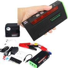 New Capacity 68800mAh Car Jump Starter Mini Portable Emergency Battery Charger for Petrol & Diesel Car Free shipping 4 USB