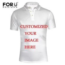 FORUDESIGNS Custom Polo Shirt Men Polyester Short Sleeve Polos Casual Brand Polo Homme Fashion Men Slim Fit Plus Size 3XL(China)
