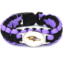 Baltimore Ravens bracelet sport american football team umbrella braided paracord bracelet football fans gift 10pcs(China)