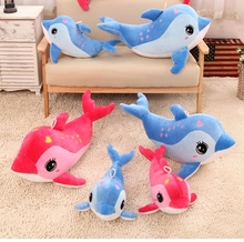 Cute dolphin pillow Large doll Valentine's girlfriend birthday gift ideas for children Home Car decoration 45 CM Plush Toys