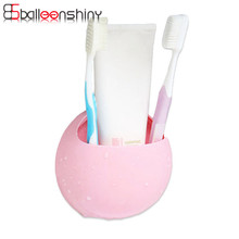 Mini Soap Shelf Box Sponge Holder Toothbrush Double Sucker Suction Cup Storage Rack Bathroom Makeup Cosmetic Jewelry Organizer