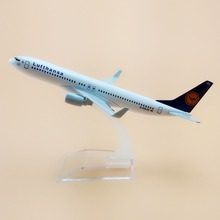 16cm German Air Lufthansa Airlines Boeing 737 B737 800 Airways Plane Model Aircraft Airplane Model w Stand Gift(China)