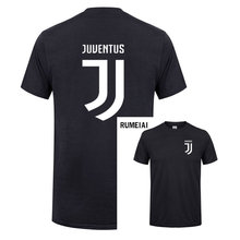 RUMEIAI 2017 New Brand Mens T Shirt Cotton Short Sleeve juventus print Fitness T-Shirt Men Homme Classic Casual juventus T Shirt(China)