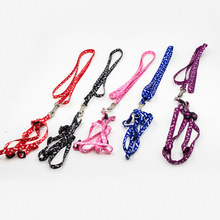 7 Color Small Dog Pet Puppy Cat Adjustable Nylon Harness with Lead leash Tidy Chihuahua Collar Collier Pour Chien(China)