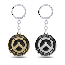 Hot Games Vintage Overwatch Keychains Anime Key Cover Key Holder Keyring Jewelry Men Chaveiro Llaveros