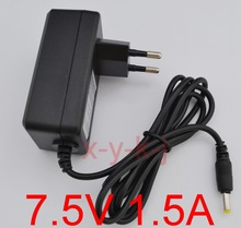 1PCS High quality AC 100V-240V Converter IC power Adapter DC 7.5V 1.5A 1500mA Power Supply EU Plug DC 5.5mm x 2.1-2.5mm(China)