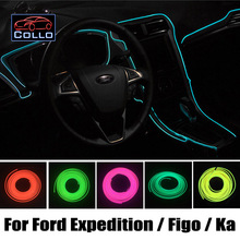 For Ford Expedition EL Max / Figo / Ka / Car Decoration Cold Light Atmosphere Lamp / 9M EL Wire / Car Console Decorative Strip