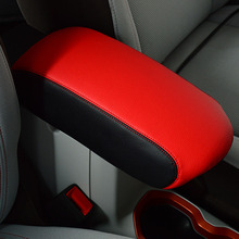 For Jeep Renegade 15-17 Armrest Case Cover Car Armrest Cover Center Console Arm Rest Seat Box Protection Case PU Cushion(China)