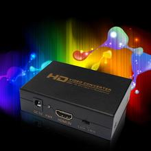 HDMI to DVI Converter For Spdif Audio Video Converter Box Adapter Support Headphone Output for PS3 DVD with Power Adapter A273