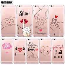 Cute Medicine Nurse Love Heart Couple Phone Case For iPhone 6 6S 6 Plus 6s Plus 5 5S SE 7 7 Plus Transparent Silicone Cell Cover