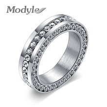 Modyle New Fashion Wedding Ring White Gold-Color Cubic Zirconia Jewelry Valentine Gift for Women Engagement Ring(China)
