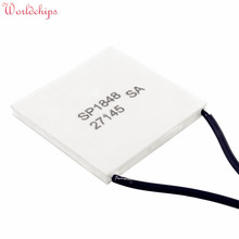 Free Shipping SP1848-27145 TEC 40x40mm Semiconductor Thermoelectric Heatsink Cooler Peltier Plate Module For Power Generation