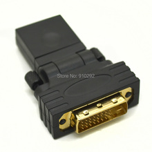 HDMI Female To DVI-D 24+1 Male Gold Plug Adapter Socket HDMI to DVI Converter Converter Plug to connector LCD HD TV