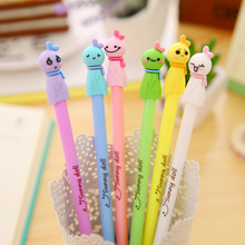 60 pcs/Lot Sunny doll gel pen Cute color body 0.5mm black ink pens Kawaii Stationery Office material school supplies F157