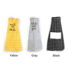 Cotton And Linen Multifunctional Kitchen Tools Cooking Baking Apron Cute Country Style Aprons For Woman Adult Black Gray Yellow