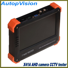 "7"" inch X41A AHD camera tester CCTV tester monitor AHD analog camera testing  12V Power Output"