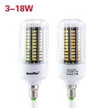 High Power 5736 SMD Lamp E27 E14 More Bright Than 5730 5733 LED Corn lamp Bulb light 3w 5w 7w 9w 12w 15w 18w 85V-265V No Flicker(China)