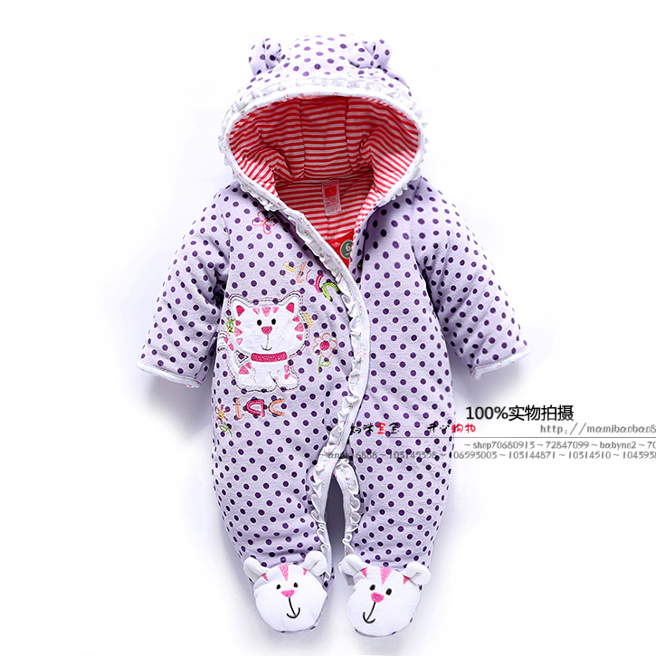 Newborn Baby Girls Clothing 2017 autumn winter Girl One Pieces Clothes Jumpsuits Infantil baby girl romper<br>
