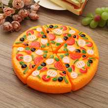 Attachable Children Pizza Slices Toppings Simulation Food Kitchen Cooking Cutting Toys Educational Toys Gift For Children Adult(China)