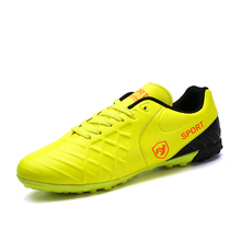 2017 New Football Turf Shoes Size 37-44 Indoor Soccer Sneakers Training Football Trainers Men Leather Soccer Shoes Indoor Cheap