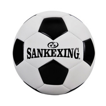 SANKEXING Black White Standard PU Football Size 5 Futbol Adults Training Equipment Voetbal Bal Slip-Resistant Match Soccer(China)