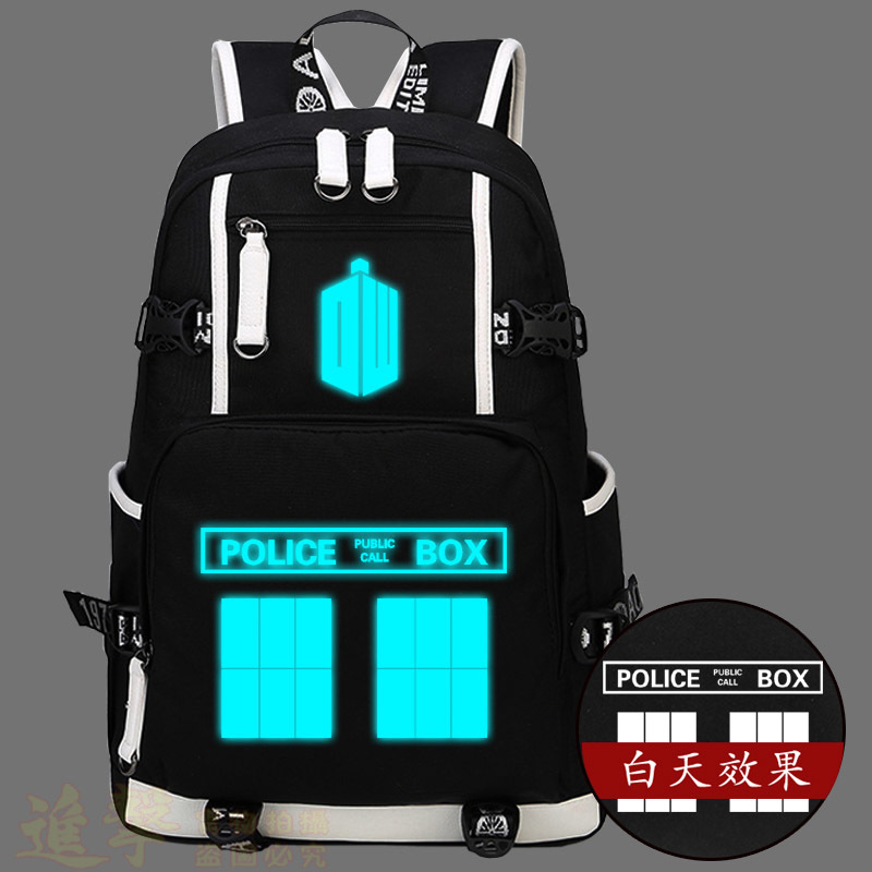 2017 New Arrive Doctor Who Backpack School Bags Men And Women Student Canvas Bag Laptop Travel Shoulder Bags<br>