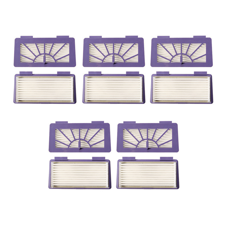 10 pcs Plastics White Purple Filter Neato XV-21 XV-15 XV-14 XV-11 XV-12 Robotic Vacuum Cleaner