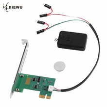 DIEWU PSW05 PCI-E Desktop PC Remote Controller 20m Wireless Restart Switch Turn On/OFF for Family Desktop Computer In Stock!!!