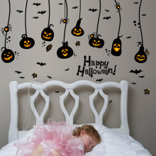 Black Fashion Wall Stickers Pumpkin Lantern Stickers Living Room Decor DIY Wall Decor Child Bedroom PVC Home Decor Halloween(China)