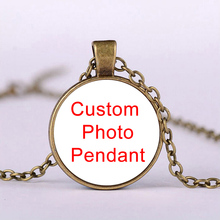 Fashion Accessories Long Chain Pendant Custom Photo Pendant Glass Dome Necklace for Women Man Custom Jewelry Birthday Gifts