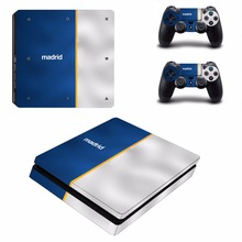 Buy Madrid Football PS4 Slim Skin Sticker Sony PlayStation 4 Console 2 Controllers PS4 Slim Slim Skins Sticker Decal Vinyl for $8.99 in AliExpress store