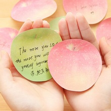 New Fashion Cute Apple design Notepad/Sticky note/Note pads Memo/Writing scratch pad / school and office supplier
