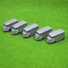 4PCS Gray Business Cars Model 1:100 TT HO Scale for Building Model Train Layout  C10014 railway modeling