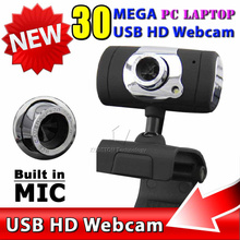 New USB 2.0 30 mega Pixel Web Cam HD Camera WebCam With MIC Microphone Black color For Computer PC Laptop NotebooK