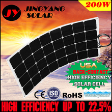 flexible solar panel 200w 18VDC MONO solar cell A grade solar cell 21% charging efficiency