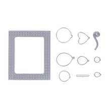 Silver Metal Frame Balloon Cutting Dies Scrapbook Album Card Decoration DIY Embossing Stencils For Card