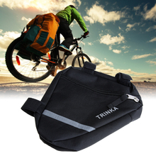 Hot sale Waterproof Triangle Bags Cycling Bike Bicycle Front Tube Frame Pouch Saddle Bag Bicycle accessories Panniers H1E1