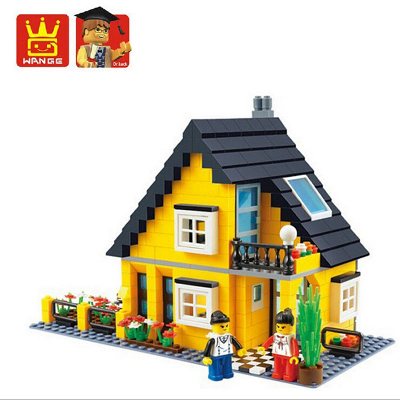 Mini Blocks City Street Scene Scene Map Little Yellow House Retail Stores Building Models and Building Toys<br><br>Aliexpress