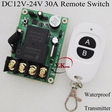 DC12V 13V 16V 18V 22V 24V 30A High Load Remote Switch LED Lamp Motor Waterpump Power Remote ON OFF Car Truck LED Power ON OFF