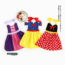 0-5 Years New Gift Summer Vest Girls Dress Apron Snow White Baby Girl Cotton Dress Chlidren Clothes Kids Party Clothing Cosplay
