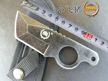 VOLTRON high flying pig knife high hardness claw knife outdoor field survival straight knife, army self-defense weapon knife