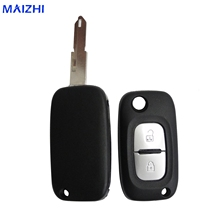 maizhi 10pcs 2 Buttons Remote Flip Folding Car Key Shell for Renault Car Key Case Cover Car-styling(China)