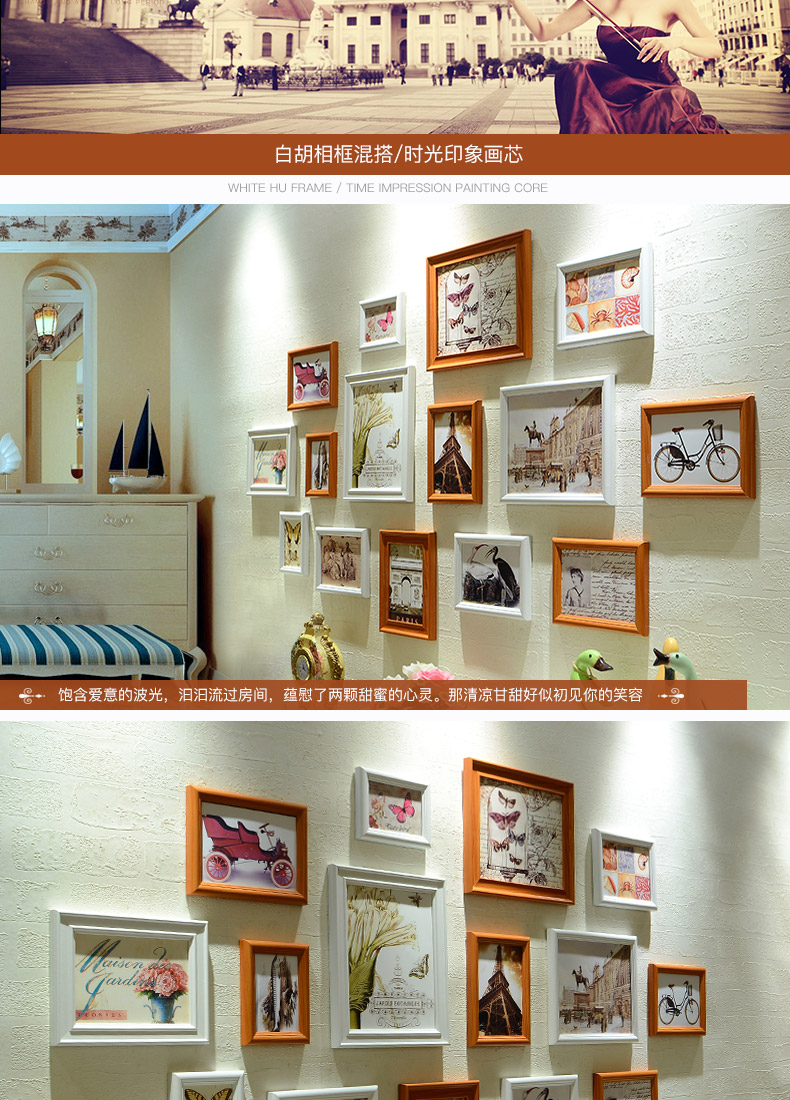 Großhandel Moderne Weiß Stilvolle 15 Teile / Satz Bilderrahmen Set ...