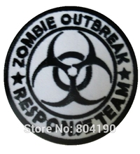 Zombie Outbreak Response Team Movie TV Kids Embroidered LOGO Iron On Patch Emo Goth Punk Rockabilly Customized patch available