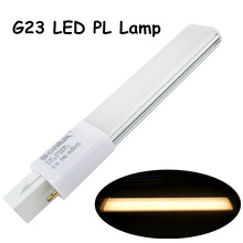 6W G23 LED PL Bulb Lamp 2-Pin Base LED Horizontal Plug Down Light 13W G23 Base CFL PL Compact Fluorescent Replacement Lamp