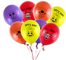 3000pcs/lot Five Nights At Freddy figure FNAF Party Balloon 4 colors ballons mixed figure toys