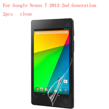 Clear New HD Clear Anti Shatter Screen Protector Film For Google Nexus 7 2013 2nd Generation protective 2pcs in 1 package