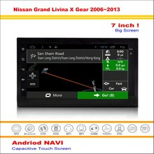 Car Android GPS Navigation System For Nissan Grand Livina X Gear / Versa 2005~2013 Radio Stereo Multimedia Video No DVD Player