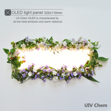 Newest UIV 320*110mm Rectangular OLED Panel Light Glass OLED Ceiling Lights Energy-saving4.25-4.8W DC Current500-800MA
