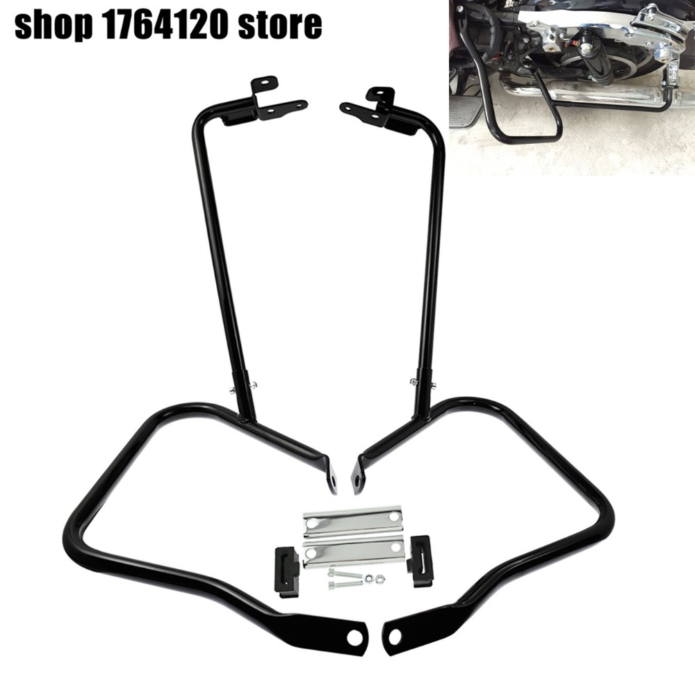 Saddle Bags Guard Bracket For Harley Touring Road King Glide 2014-2019 Steel